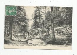 Cp , 88 , VAL D'AJOL , Environs De La FEUILLEE NOUVELLE , Ponts De La Cascade De FAYMONT , Voyagée, Animée - Francia