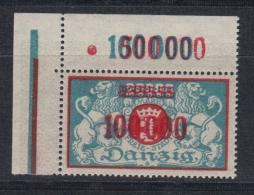(04199) Danzig 150 Eckrand Oben Links Postfrisch Feld 1 D Mit Feinem Anstrich - Danzig