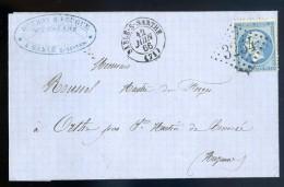 Marque Postale 3254 Lettre 1866 à Forges D´ Orthe St Martin De Connée Cachet Rouzay & Fouque Fers à Sablé  JIP52 - Marcophilie (Lettres)