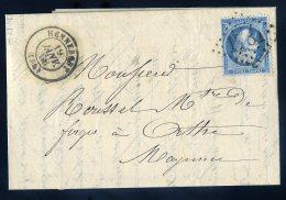 Marque Postale 1781 Lettre De 1866 à Forges D´ Orthe Mayenne Facture De Trottier Hennebont Fers   JIP52 - Marcophilie (Lettres)