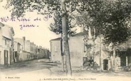 Tarn -  Saint Paul Cap De Joux - Place Notre Dame - Statue De La Vierge - Saint Paul Cap De Joux