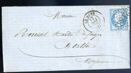 Marque Postale 2188 Lettre De 1866 à  Orthe Mayenne Facture    JIP52 - Marcophilie (Lettres)