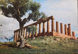 CPSM. - PUB. Des Labo. ROGER BELLON - AGRIGENTO Tempio Di Giunone - Datée Milano Le 15.05.1956 - BE - Werbepostkarten