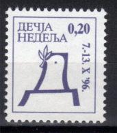 Yugoslavia,Children's Week 1996.,MNH - 1992-2003 République Fédérale De Yougoslavie
