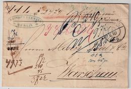 "Polen, (ca. 1860) "" Berlin "" Nach Warschau , #6542 - Covers & Documents"