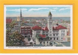 ETATS-UNIS - GEORGIE - SAVANNAH - Bird's Eye View, Showing Post Office, Savannah GA - Savannah