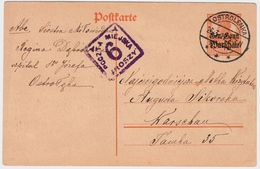 """1917, """" OSTROLENKA """" Nach Warschau , #6546 - ....-1919 Übergangsregierung"""