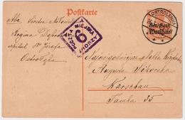 "1917, "" OSTROLENKA "" Nach Warschau , #6546 - Covers & Documents"