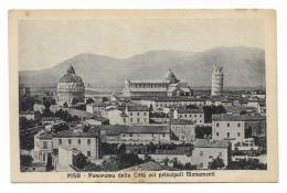 PISA PANORAMA DELLA CITTÀ COI PRINCIPALI MONUMENTI NV FP - Pisa