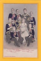 CPA Kronprinz Friedrich Wilhelm Von Preussen, Kaiser Wilhelm II., Kaiserin Auguste Victoria, Prinz August, Prinz Joach - Familias Reales