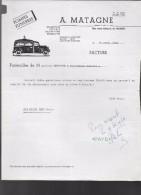 NAMUR  A. MATAGNE  Transport , Pompes Funèbres , Cercueils , ... )   - 1954 - Transport