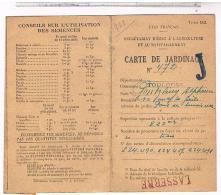 TOULOUSE CARTE DE JARDINAGE  1942  DOC12 - Documents Historiques