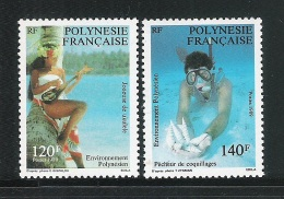 POLINESIA FRANCESE - 1989 - 2 Valori Nuovi S.t.l. - Emissione Dedicata All' AMBIENTE POLINNESIANO- In Ottime Condizioni. - Polinesia Francese