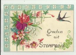 Stompwijk   *  Groeten Uit Stompwijk   (carte Gaufrée - Relief Kaart) - Leidschendam