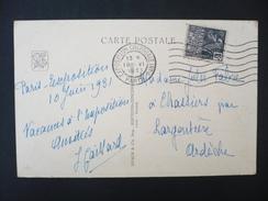 France - 1931 N° 270 Femme Fachi Sur CP Empreinte FLIER Paris Exposition Coloniale Internationale - Poststempel (Briefe)