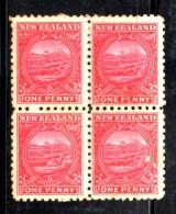 Z1079 - NUOVA ZELANDA 1900 , Gibbons 1 Penny N 274 Quartina Nuova * . Poco Fresca - Unused Stamps