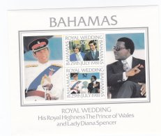 Bahamas 1981 Royal Wedding Prince Charles/Lady Di Souvenir Sheet MNH/** (H23) - Koniklijke Families