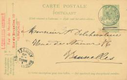 Entier Postal Armoiries TERMONDE 1905 Vers BXL - Cachet Scholliers-Van Wiele , Fabricant De Meubles  -- XX711 - Entiers Postaux