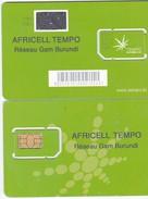 BURUNDI  MOBILE SIM CARD  AS SCAN SOME MARKS ON BLACK SQUARE - Burundi