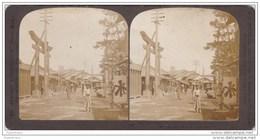 Old Original Photo Tokyo Japan Nippon Street Scene Temple Torii Asia Azie Oude Foto Stereo Stereoscope Stereokaart - Stereoscopio