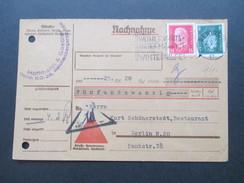 Deutsches Reich 1932 Nachnahme Karte Hoffmann & Gaebler Berlin Reichspräsidenten MiF - Briefe U. Dokumente