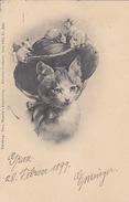 Katze Mit Mäusen - Künstlerkarte - Verl.Theo Stoefer - 1899    (161108) - Cats