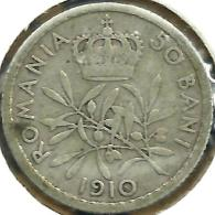 ROMANIA 10 BANI CROWN FRONT KING HEAD BACK 1910 AG SILVER KM? AF READ DESCRIPTION CAREFULLY !!! - Rumania