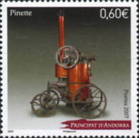 Ref. 206165 * NEW *  - ANDORRA. French Adm. . 2007. PINETTE. STEAM ENGINE. PINETTE. MOTOR A VAPOR - French Andorra