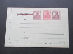 Deutsches Reich Privatganzsache Feldpostbrief / Privat Kartenbrief Ungebraucht / Guter Zustand! Germania - Deutschland