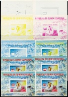 Equatorial Guinea, 1976, Olympic Winter Games Innsbruck, Skiing, MNH Imperforated Proof Set, Michel Block 159 - Guinée Equatoriale