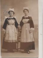 CARTE PHOTO 29.  Femmes. Coiffe Riec-sur-Belon. 1919 - France