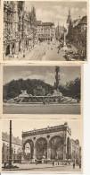 3 Unused Postcards Munchen - München