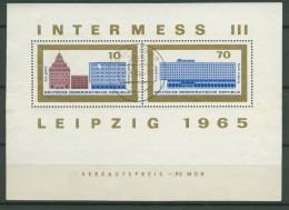 BL6-201 DDR, EAST GERMANY MI M/S,BLOCK 23-24 INTERMESS III. USED, OBLTERE, GEBRUIKT. - [6] Oost-Duitsland