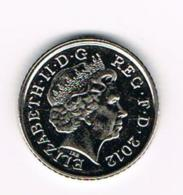 °°°  GREAT BRITAIN  5 PENCE 2012 - 5 Pence & 5 New Pence