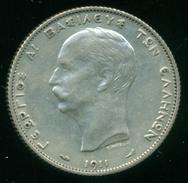 GREECE, 2 DRACMHMAI 1911 KING GEORGE 1st - Grèce