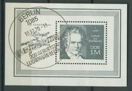 BL6-208 DDR, EAST GERMANY MI M/S,BLOCK 33 LUDWIG VON BEETHOVEN. USED, OBLTERE, GEBRUIKT. - [6] Oost-Duitsland