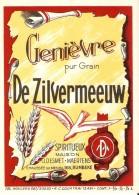 Etiquette De Genièvre Pur Grain - De Zilvermeeuw - Etiquettes