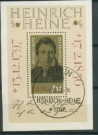 BL6-210 DDR, EAST GERMANY MI M/S,BLOCK 37 HEINRICH HEINE, SCHRIFTSTELLER, ECRIVAIN, WRITER. USED, OBLTERE, GEBRUIKT. - [6] Oost-Duitsland