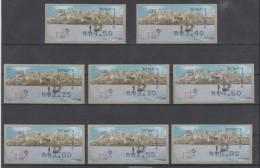 ISRAEL 2008 KLUSSENDORF SIMA FRAMA MEDITERRANEAN SEA YAFO BOAT FULL SET OF 8 STAMPS - Franking Labels