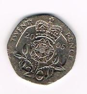 °°° GREAT BRITAIN  20 PENCE   2006 - 20 Pence