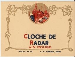 CLOCHE DE RADAR VIN ROUGE - Etiquettes