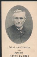 Doodsprent Image Pieuse DE RYCK  AAIGEM 1830   OORDEGEM 1910 - Religion & Esotericism