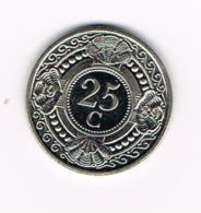 °°°  NEDERLANDSE ANTILLEN   25 CENTS  1989 - Antilles Neérlandaises