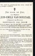 Doodsprent Image Pieuse Van Boxtael Leon  Aaigem 1877 Oordegem 1912 - Religion & Esotericism