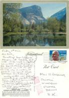 Mirror Lake, Yosemite National Park, Wyoming, United States US Postcard Posted 1993 Stamp - Yellowstone