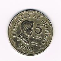 °°°  PILIPINAS  5  PISO  2001 - Philippines
