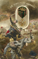 7848 -phtomontage De Propagande La Croix De Guerre Gagnée Au Combat, Baïonnette Transperçant Un Casque à Pointe - Guerre 1914-18