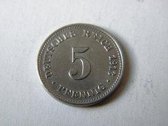 ALLEMAGNE - 5 PFENNIG 1913.D.. TTB+. - [ 2] 1871-1918 : Empire Allemand