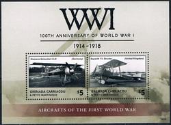 Bloc Sheet  1ere Guerre Mondiale Avions War I Airplanes Neuf MNH ** Grenada 2014 - Guerre Mondiale (Première)