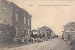 Housse - Maison Communale Et Ecole Des Garçons (Edit. Frastré-Fraikin, Top Animation, 1913) - Blegny